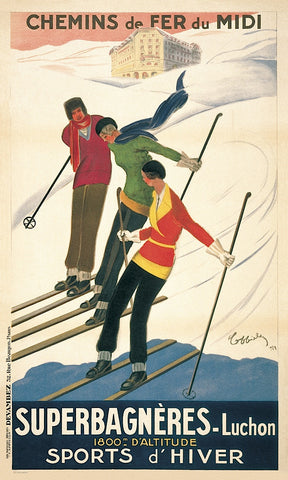 Leonetto Cappiello - Superbagneres-Luchon, Sports d'Hiver