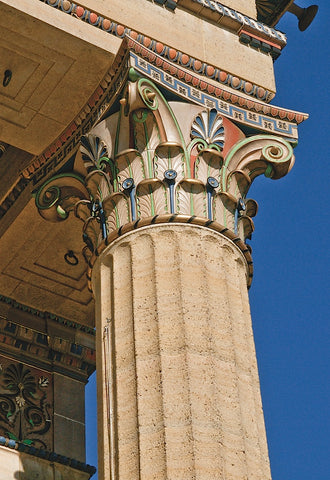 Corinthian Column III (color) -  Erin Clark - McGaw Graphics