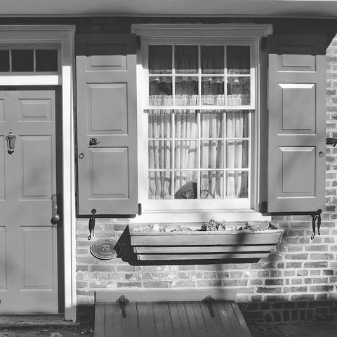 Erin Clark - Red Door, Red Shutters (b/w)