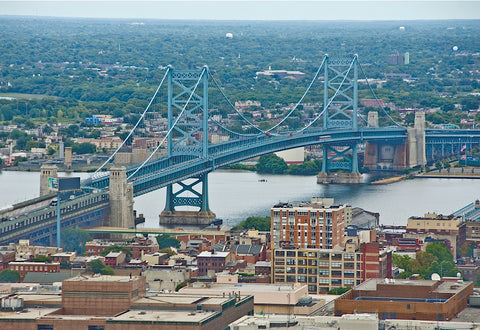 Erin Clark - The Benjamin Franklin Bridge (aerial)