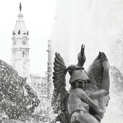Fountain (City Hall) (b/w) -  Erin Clark - McGaw Graphics
