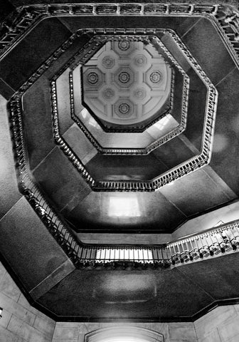 Erin Clark - City Hall Stairwell (b/w)