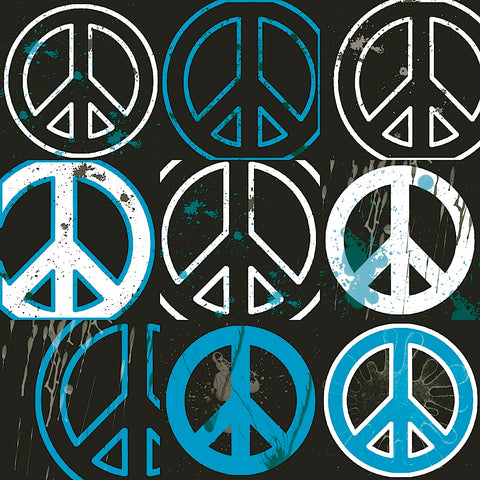 Peace Mantra (blue) -  Erin Clark - McGaw Graphics