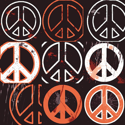 Peace Mantra (orange) -  Erin Clark - McGaw Graphics