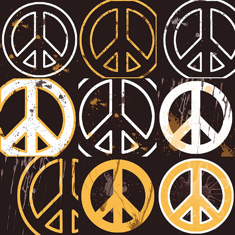 Peace Mantra (yellow) -  Erin Clark - McGaw Graphics