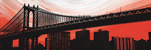 Manhattan Bridge Aura -  Erin Clark - McGaw Graphics