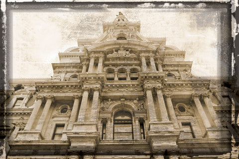 City Hall Facade (Vintage) -  Erin Clark - McGaw Graphics