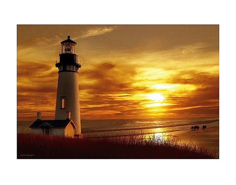 Lighthouse at Sunset -  Carlos Casamayor - McGaw Graphics