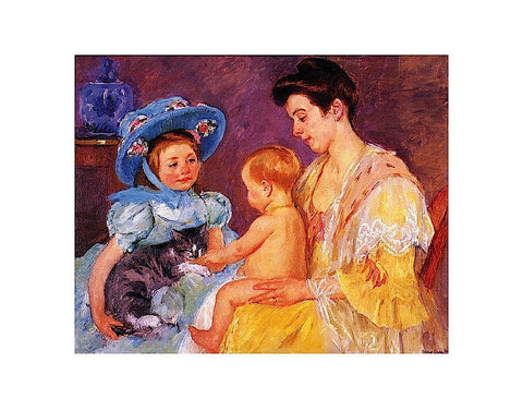 Children Playing with a Cat -  Mary Cassatt - McGaw Graphics