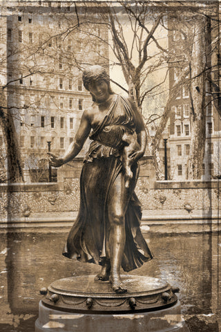 Rittenhouse Statue (Vintage) -  Erin Clark - McGaw Graphics