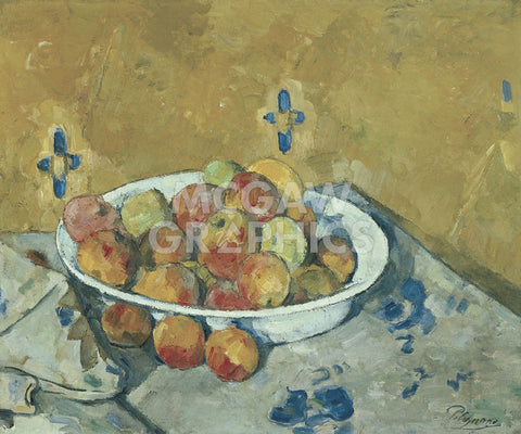 The Plate of Apples, c. 1897 -  Paul Cezanne - McGaw Graphics