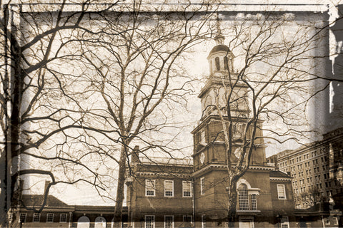 Independence Hall (horizontal) (Vintage) -  Erin Clark - McGaw Graphics