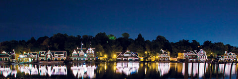 Boathouse Row (Night) -  Erin Clark - McGaw Graphics