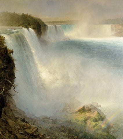 Niagara Falls, from the American Side, 1867 -  Frederic Edwin Church - McGaw Graphics