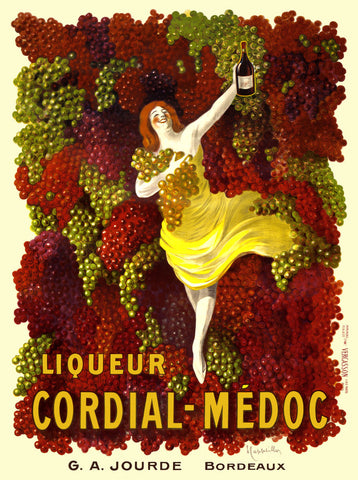 Liquer Cordial-Médoc, G. A. Jourde - Bordeaux -  Leonetto Cappiello - McGaw Graphics
