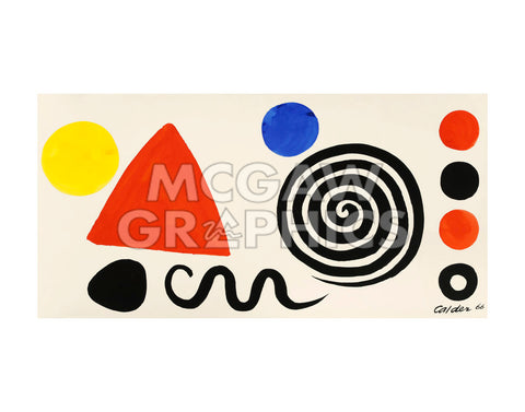 Abstraction, 1966 -  Alexander Calder - McGaw Graphics