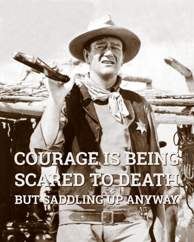 John Wayne: Courage -  Celebrity Photography - McGaw Graphics