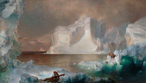 The Icebergs, 1861 -  Frederic Edwin Church - McGaw Graphics