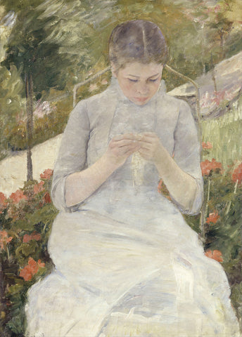Mary Cassatt - Girl in the Garden, between 1880 and 1882