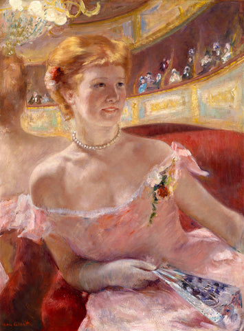 Mary Cassatt - Woman with a Pearl Necklace in a Loge, 1879