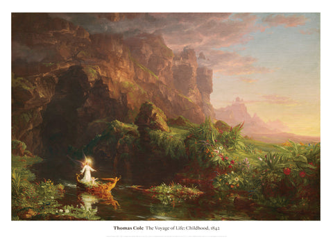 The Voyage of Life: Childhood, 1842 -  Thomas Cole - McGaw Graphics