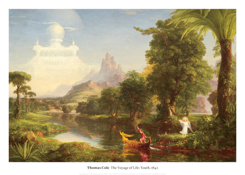 The Voyage of Life: Youth, 1842 -  Thomas Cole - McGaw Graphics