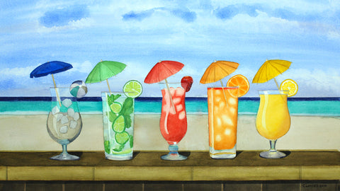 Beach Drinks -  Cory Clifford - McGaw Graphics