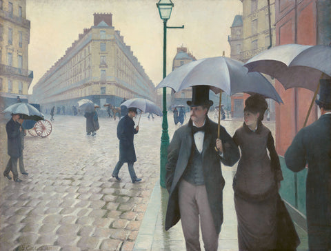 Paris Street in Rainy Weather, 1877