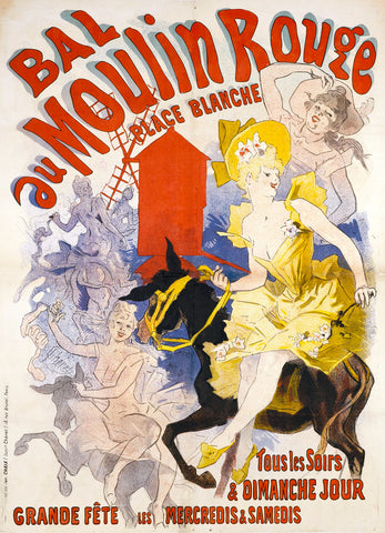 Bal au Moulin Rouge -  Jules Cheret - McGaw Graphics