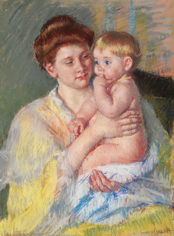 Baby John with Forefinger in His Mouth, 1919 -  Mary Cassatt - McGaw Graphics