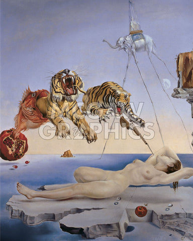 Dream Caused by the Flight of a Bee... -  Salvador Dali - McGaw Graphics