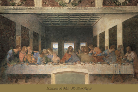Leonardo da Vinci - The Last Supper, 1498 (post-restoration)