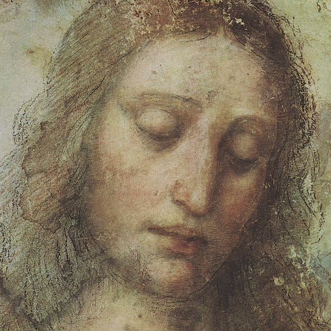 Leonardo da Vinci - Study of Christ for Last Supper (detail)