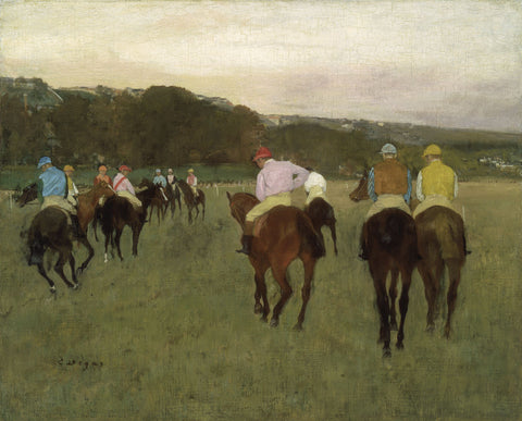 Racehorses at Longchamp, 1871 -  Edgar Degas - McGaw Graphics