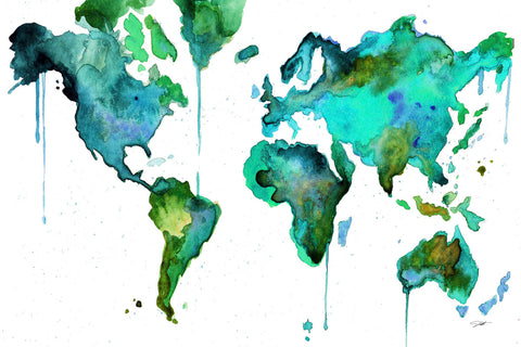 Watercolor Map No. 6