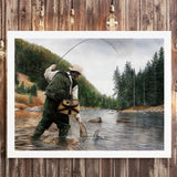 Fishing the Gallatin -  Kevin Daniel - McGaw Graphics