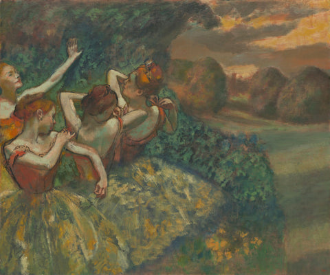 Edgar Degas - Four Dancers