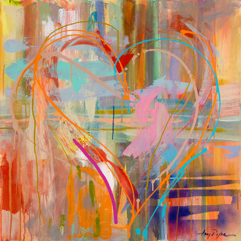 Abstract Heart -  Amy Dixon - McGaw Graphics