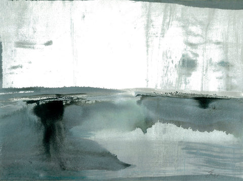 Joan Davis - Silver Silence: Watercolor and Mist