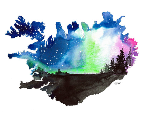 Iceland's Northern Lights -  Jessica Durrant - McGaw Graphics