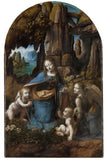 Virgin of the Rocks, 1503-1506 -  Leonardo da Vinci - McGaw Graphics