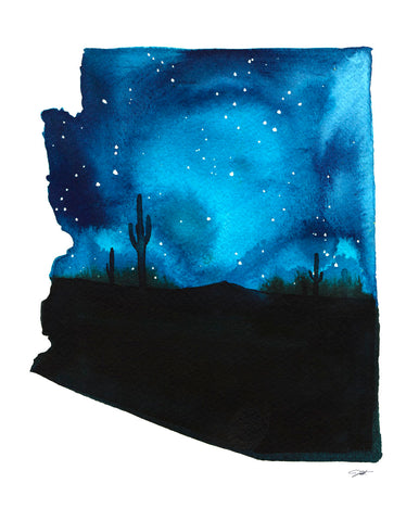 Arizona State Watercolor
