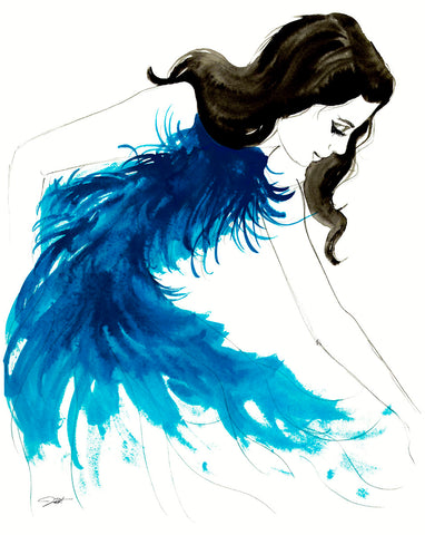 Blue Feathers -  Jessica Durrant - McGaw Graphics