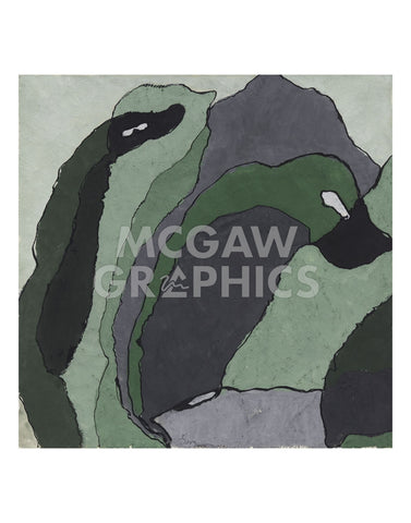 Composition in Green and Gray (Untitled), about 1930 -  Arthur Dove - McGaw Graphics