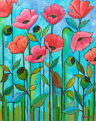 Peggy Davis - Coral Poppies