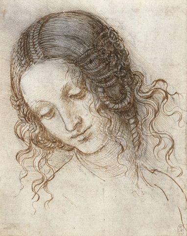 Leonardo da Vinci - Head of Leda