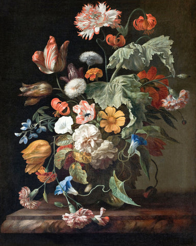 Dutch Florals - Rachel Ruysch, Still-Life with Flowers