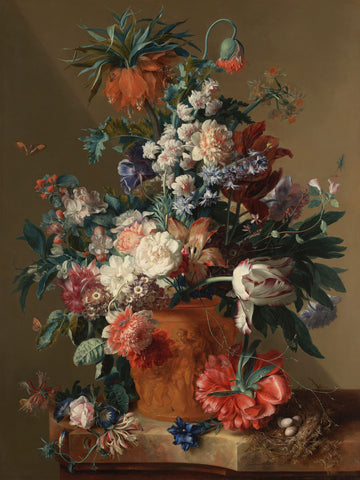 Dutch Florals - Jan van Huysum, Vase of Flowers