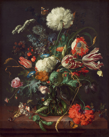 Jan Davidsz de Heem, Vase of Flowers -  Dutch Florals - McGaw Graphics