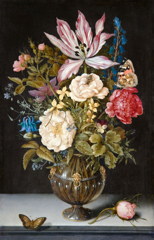 Ambrosius Bosschaert, Still-Life with Flowers -  Dutch Florals - McGaw Graphics